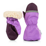 Children's autumn-winter mittens Stock Photo