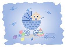 Children's background - a boy Stock Image