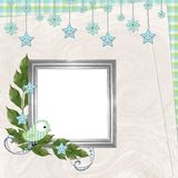Children's background with frame Royalty Free Stock Photos