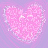 Children's background. Heart vector graphic illustration design Stock Image