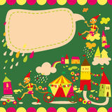 Children's background with speech bubble. Royalty Free Stock Photo