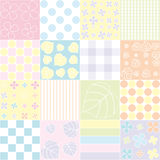Childrens background with stripes and leaves Stock Photography