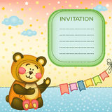 Children's background with teddybear Royalty Free Stock Photo