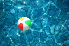 Children's ball in water Stock Image