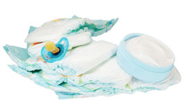Children's bath products and hygiene items Royalty Free Stock Images