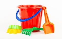 Children's beach sand toys Stock Images