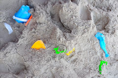 Children's beach toys - buckets Royalty Free Stock Photo
