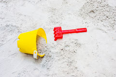 Children's beach toys. On sand Royalty Free Stock Photos