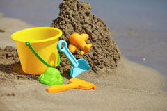 Children's beach toys Royalty Free Stock Images
