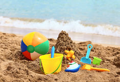 Children's beach toys Royalty Free Stock Image