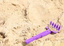 Children's beach toys on sand Royalty Free Stock Photos