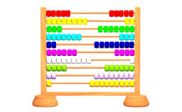 Colorful abacus. Children's beaded abacus, for counting. 3D generated image Royalty Free Stock Images