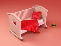 Children's bed royalty free illustration