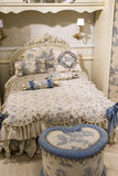 Children's bedroom in beige with furniture Royalty Free Stock Photos
