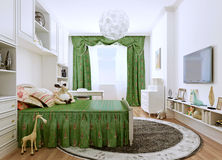 Children's bedroom in a classic style. Royalty Free Stock Images