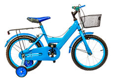 Children's bicycle isolate white background with clipping path Stock Photo