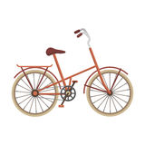 Children s bicycle with low frame and luggage compartment flaps.Different Bicycle single icon in cartoon style vector. Symbol stock web illustration Stock Photos