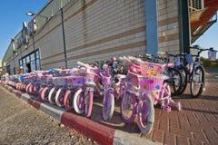 Children's Bicycles Stock Photo
