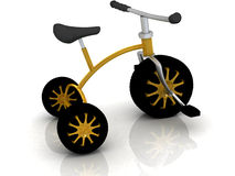 Children's bike with automobile wheels Royalty Free Stock Image