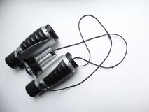 Children`s binoculars made of plastic royalty free stock image