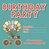 Children's birthday invitation Stock Images