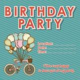 Children's birthday invitation Stock Images
