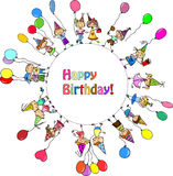 Children's birthday party,vector Stock Images
