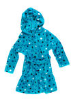 Children's blue bathrobe. Stock Photos