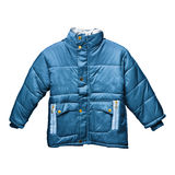 Children's blue parka Royalty Free Stock Image