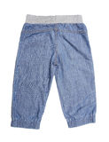 Children's blue trousers Stock Images