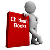 Children's Book And Character  Shows Reading Royalty Free Stock Photo