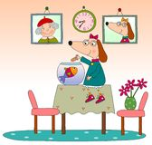 Children's book page. Colorful graphic illustration for children Royalty Free Stock Images