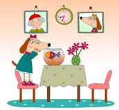 Children's book page. Colorful graphic illustration for children Stock Image