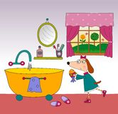 Children's book page. Colorful graphic illustration for children Stock Photography
