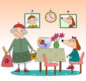 Children's book page. Colorful graphic illustration for children Royalty Free Stock Image