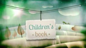 Children's book, vintage children illustration Royalty Free Stock Images
