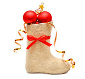 Children's boot full gifts Royalty Free Stock Photography