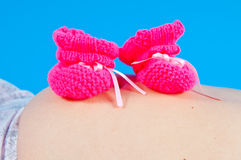 Children's bootees Stock Images