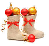 Children's boots full gifts Royalty Free Stock Images