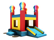 Children's Bounce house on a white background. Royalty Free Stock Photos