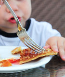 Children's breakfast Stock Photography