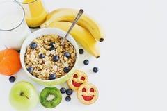 Children's breakfast Stock Image