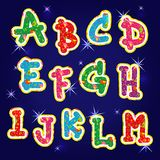 Children's bright alphabet first 13 characters Royalty Free Stock Photo