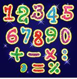 Children's bright alphabet numbers Royalty Free Stock Photos