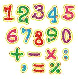Children's bright colorful alphabet numbers Royalty Free Stock Image