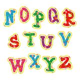 Children's bright colorful alphabet Royalty Free Stock Photos