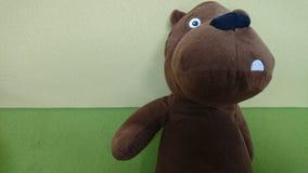 Children& x27; s bruine gevulde Teddybeer royalty-vrije stock foto