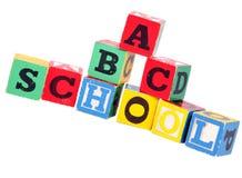 Children's building blocks. Isolated on white Stock Images