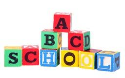 Children's building blocks. On white background Royalty Free Stock Image