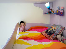 Children`s bunk bed Royalty Free Stock Photo